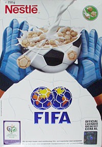 FIFA World Cup Nestle cereal